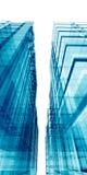 blåa skyskrapor vektor illustrationer