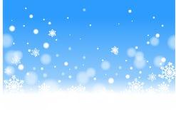 blåa snowfall Royaltyfria Bilder