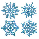 Blåa snowflakes arkivfoton