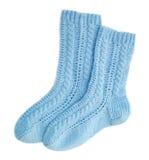 blåa sockor Royaltyfria Foton