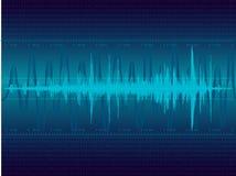 blåa sound waves Arkivbilder