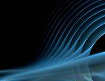 Blåa sound waves på black Fotografering för Bildbyråer