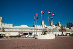 Blåa Souq Sharjah Arkivbilder
