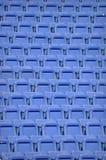 Blåa stadionstolar - upprepa textur Royaltyfri Fotografi