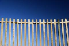 blåa staket royaltyfria foton