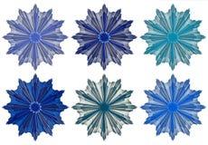 blåa stjärnor Arkivbild