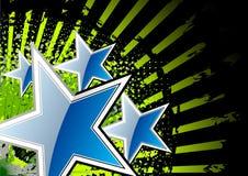 blåa stjärnor stock illustrationer