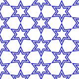 Blåa stjärnor med isolerad bakgrund Royaltyfri Foto