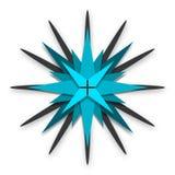 Blåa stjärnor Shape Logo Design Royaltyfri Foto