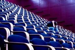 blåa stolar Arkivbild