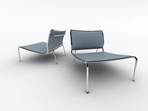 blåa stolar Royaltyfri Foto