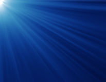 blåa strålar Arkivbilder