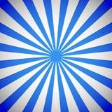 Blåa strålar, starburst, sunburstbakgrund Royaltyfri Foto