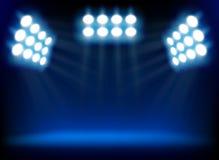 blåa strålkastarear Arkivfoton