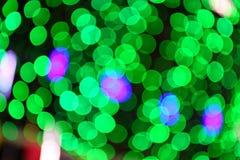Blåa suddiga ljus i natten Arkivbild