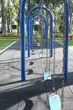 blåa swings Royaltyfria Foton