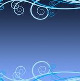 blåa swirls Royaltyfri Fotografi