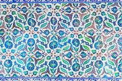 blåa tegelplattor Arkivfoto