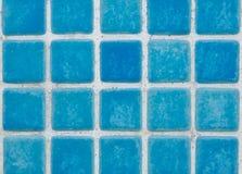 blåa tegelplattor Royaltyfri Fotografi