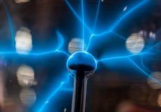 Blåa tekniska blixtar Fotografering för Bildbyråer
