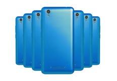 blåa telefoner Fotografering för Bildbyråer
