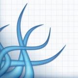 blåa tentakel royaltyfri illustrationer