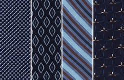 Blåa textilprovkartor royaltyfria bilder