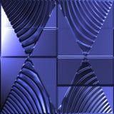 blåa trianglar för bildspegel Fotografering för Bildbyråer