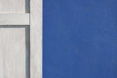 Blåa väggar Arkivfoto
