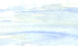 Blåa vatten-färg slaglängder Bakgrund Royaltyfria Bilder