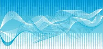 blåa vektorwaves för bakgrund Arkivbild