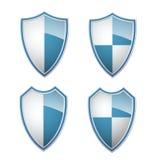 blåa vita samlingsshilds Arkivfoto