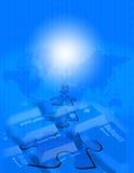 blåa www Royaltyfri Foto