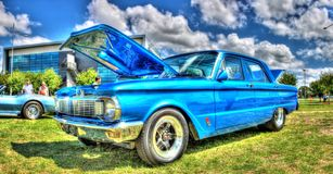 Blåa XP Ford Falcon Arkivfoton