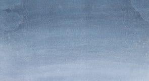 Blåaktig grå vattenfärgtextur Arkivfoton
