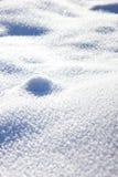 Blåaktig vit snödriva, snö Arkivbild