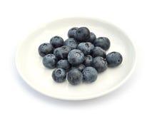 blåbär besegrar white Fotografering för Bildbyråer