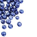 Blåbärantioxidantsuperfood som isoleras på vit bakgrund M Arkivbild