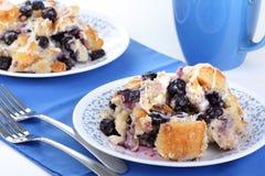 blåbärbrödpudding Royaltyfri Fotografi