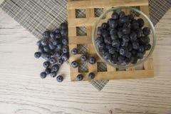 Blåbäret är källan av vitaminer Arkivfoton