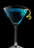 blåbärmartini twist royaltyfria bilder