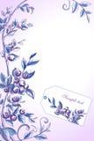 Blåbärvektorram Royaltyfri Fotografi