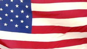 Blåsa för amerikanska flaggan lager videofilmer