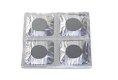 Blåsapacke som innehåller medicinska pills Arkivfoto
