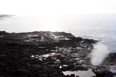 Blåshål på Kauai Hawaii Royaltyfria Bilder