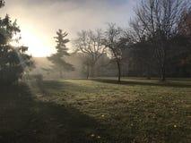 Blåsig morgon för universitetsområde Royaltyfri Fotografi