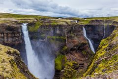 Blåsig sommardag i Island Fotografering för Bildbyråer