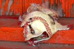 Blåst ut baseball Royaltyfri Bild