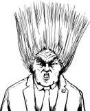 Blåst ut frisyr av Donald Trump vektor illustrationer