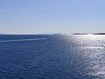 Blåste Aegean, Cyclades, fotografering för bildbyråer